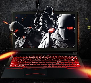 Hasee 神舟 战神 T6Ti-X5 15.6英寸 笔记本电脑 (黑色、酷睿i5-7300HQ、8GB、128GB SSD+1TB HDD、GTX 1050Ti 4G)