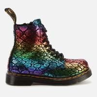 Dr. Martens Toddlers' 1460 Metallic Suede 金属麂皮鳄鱼纹彩虹 儿童马丁靴