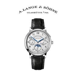 A. Lange & Sohne/朗格官方正品1815系列男士鳄鱼皮年历机械腕表