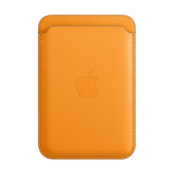 Apple 苹果 iPhone 专用 MagSafe 皮革卡包 花菱草色