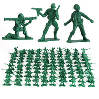 KIDNOAM 军人小兵人军事塑料模型 100个装 +军事地图1张