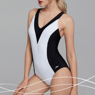 SPEEDO 速比涛 女士泳衣 8113773503 白色/黑色 S