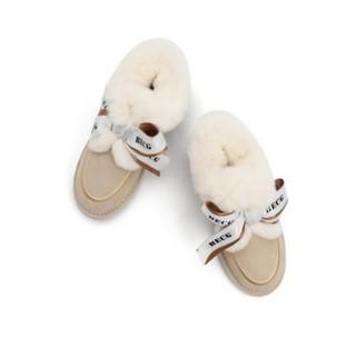 BeLLE 百丽 22328DM0 羊毛绒雪地靴 米黄 36