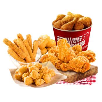 凤祥食品  炸鸡全家桶3.8斤(共四袋)