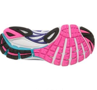 saucony 索康尼 Guide 8 女士跑鞋 白色/微光/粉红色 38