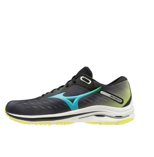 Mizuno 美津浓 RIDER 24 J1GC200818 男/女款马拉松跑鞋 黑色/蓝色/黄色 42