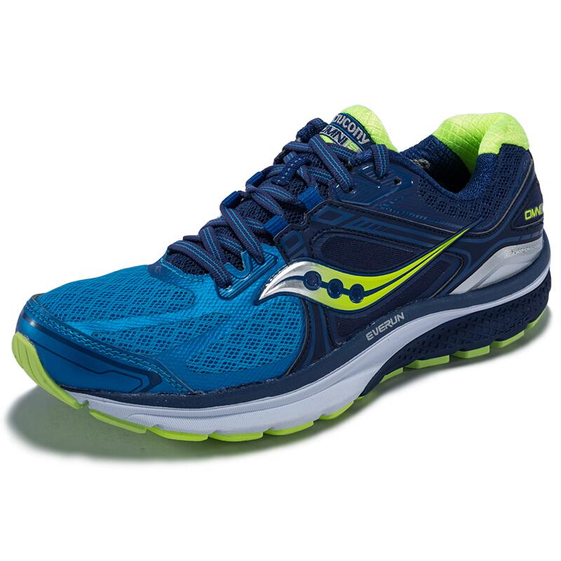 saucony 索康尼 OMNI 15 男士跑鞋 S20315-2 蓝/黄 42.5