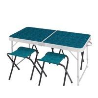 DECATHLON 迪卡侬 NH500 车载便携式桌椅套装(4-6人)130208-8575786 纹理浅蓝色