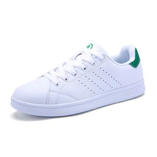 XTEP 特步 女士运动板鞋 983218319266 白绿 35