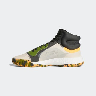 adidas 阿迪达斯 Marquee Boost 男士篮球鞋 EF0489 浅卡其/绿黄 40.5