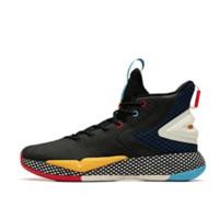 ANTA 安踏 速战3 男士篮球鞋 11941606-11 黑/海岸蓝/象牙白 41 梭织面