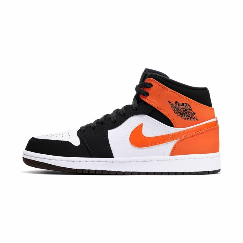 AIR JORDAN 正代系列 Air Jordan 1 MID 男士篮球鞋 554724-058 黑橙小扣碎 42
