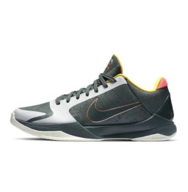 NIKE 耐克 Zoom Kobe 5 男士篮球鞋 CD4991-300 深绿/银灰/黄色 42.5