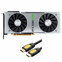 NVIDIA 英伟达 GeForce RTX 2080 FE公版 显卡 8GB DDR6
