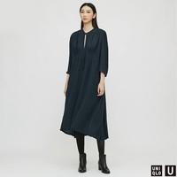 历史低价:UNIQLO 优衣库 U系列 430967 蝴蝶结领连衣裙