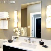BOLEN浴室镜子壁挂卫浴卫生间镜子厕所无框银镜梳妆镜洗漱台镜子