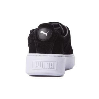 PUMA 彪马 Basket Platform Strap 女士运动板鞋 364068-01 黑色 38.5