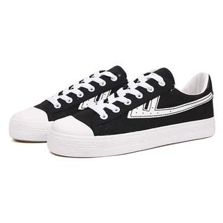 WARRIOR 回力 女士运动板鞋 WXY-A106T 黑/白 36