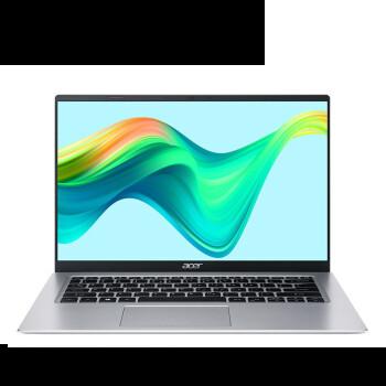 宏碁(Acer)新蜂鸟Fun 14英寸轻薄本 学生商务办公笔记本电脑(11代英特尔酷睿i7-1165G7 16G 512GSSD wifi6)银