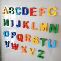 KIDNOAM 儿童彩色磁性贴 字母26块+数字37块