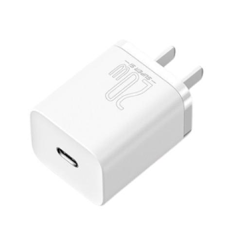 BASEUS 倍思 手机线充套装 20W Super Si充电器+1米Lightning数据线 白色