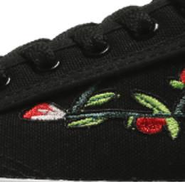 WARRIOR 回力 中性运动板鞋 刺绣黑 44