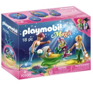 摩比世界 : playmobil  摩比世界 70100 美人鱼一家与贝壳婴儿车