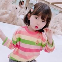 移动专享:瑄妮薇  女童长袖条纹T恤
