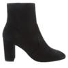 STUART WEITZMAN 斯图尔特·韦茨曼 Tinsley 80系列女士绒面革尖头拉链粗高跟踝靴 黑色UK3