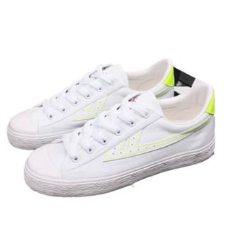 WARRIOR 回力 女士运动板鞋 WXY-A106T 白/绿 38