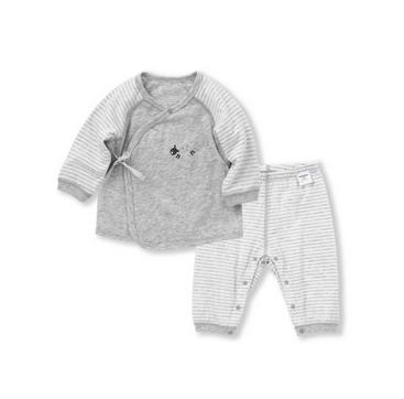 Balabala 巴拉巴拉 婴儿睡衣薄款长袖家居服套装 0011 浅花灰 52cm