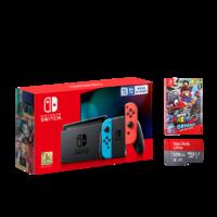 Nintendo 任天堂 Switch+《奥德赛实体卡+128GB内存卡》游戏机套餐 红蓝