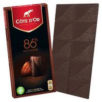 【京选好物】金象巧克力比利时CoteD'or金象巧克力200g排块牛奶巧克力86可可黑巧克 86%可可巧克力100g(2020.12)