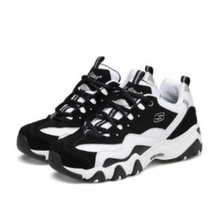 SKECHERS 斯凯奇 D'lites 2.0 男士休闲运动鞋 666049/BKW 黑色 41