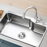 移动专享:MOEN 摩恩 28001sl 不锈钢水槽套餐(单槽配简约龙头) 685mm