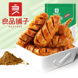 良品铺子 面筋卷烧烤味烤面筋网红辣条味小零食儿时怀旧小吃120g *11件
