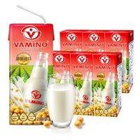 泰国进口 哇米诺VAMINO原味豆奶饮料纸盒装250ml*6盒 便携利乐包 营养早餐饮料 *8件
