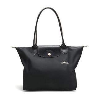 珑骧 LONGCHAMP 2020春夏 女士黑色LE PLIAGE系列织物小号长柄可折叠手提单肩包购物袋饺子包 L2605 619 001