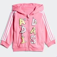 adidas 阿迪达斯 婴童训练针织套装 DW5908 半荧光粉/黑色 中麻灰/黑色 90cm(92)