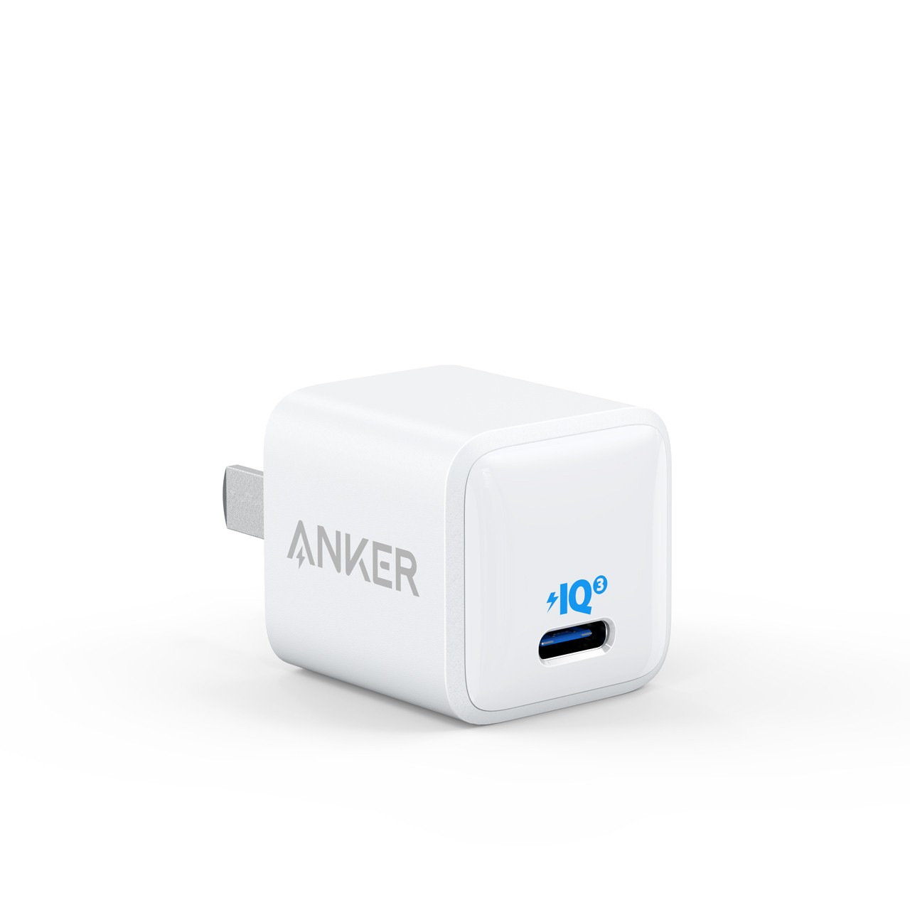 Anker安克 苹果快充Nano PD20W充电器兼容18W充电头 iPhone12/11pro/SE2/Xs/XR/8小米/iPad/Type-C数据线插头