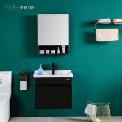 Roden 罗登 RD-6258 黑色实木浴室柜镜柜组合