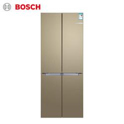 博世 BOSCH 481升 混冷变频 智能十字对开门冰箱 保鲜 不串味(流沙金) BCD-481W(KME49AQ0TI)