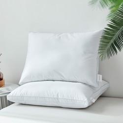全棉可水洗五星酒店枕头单个对装成人全棉纤维枕头护颈枕头枕芯 *2件