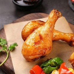 百草味 即食鸡翅根肉类休闲零食网红寝室小吃即食食品 香烤小鸡腿134g/袋 *8件