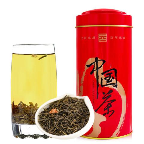 张一元 2020茉莉花茶浓香型茉莉春云180g/罐 两罐装360克新茶上市