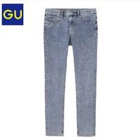 GU 极优 324079 男装高弹力紧身牛仔裤(水洗产品)