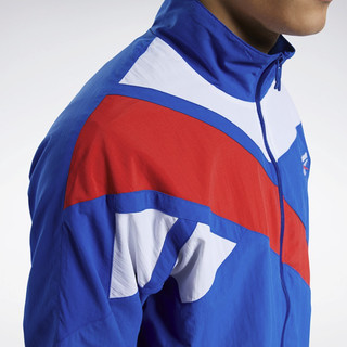 Reebok 锐步 classic系列 中性运动夹克 FT7436 蓝色/白色 S