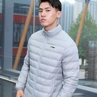 LI-NING 李宁 AYMP127 男士短裤羽绒服