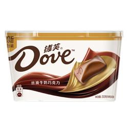 Dove德芙 巧克力分享碗装 丝滑牛奶巧克力  252g