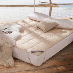 博洋家纺 秋冬加厚双人加大榻榻米软垫子 1.8米可折叠 洛斯澳毛床垫 180*200cm